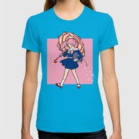 Salty Magical Girl Womens Fitted Tee Teal SMALL