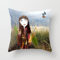 Our Lady of the Prairie Throw Pillow