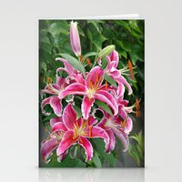 Star Lillies Stationery Cards