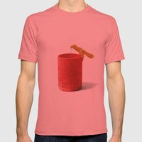 Rescue Mens Fitted Tee Pomegranate SMALL