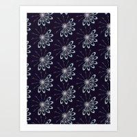 Christmas Card - Snowfla… Art Print
