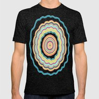 Round and Round Mens Fitted Tee Tri-Black SMALL