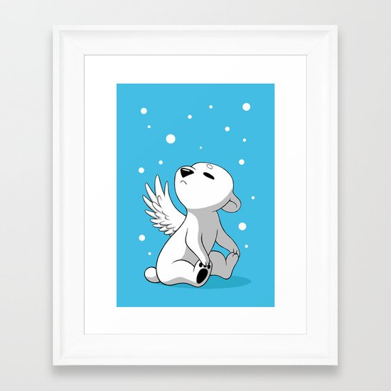Polar Cub 2 Framed Art Print