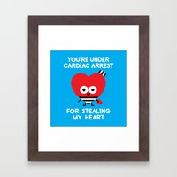 Aww Enforcement Framed Art Print