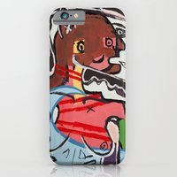 iPhone & iPod Case featuring A Portrait of a Topless Woman by Amos Duggan