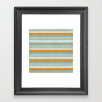 Something Fishy Stripes. Framed Art Print