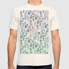 little birds Mens Fitted Tee Natural SMALL