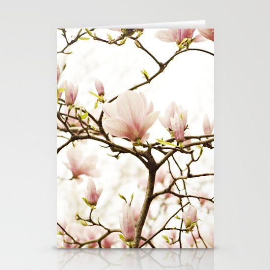 Queen For A Day Pink Magnolia Flower Stationery Card