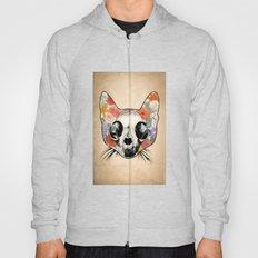 Floral Cat Skull - Grunge Hoody