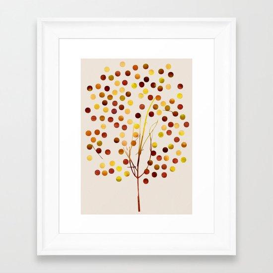 Tree of Life Amber by Jacqueline Maldonado & Garima Dhawan Framed Art Print