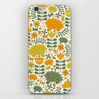 Autumn Hedgehog Forest iPhone & iPod Skin