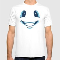 Happy Happy Mens Fitted Tee White SMALL