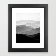 Mountain Mist - Black An… Framed Art Print