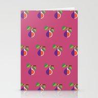 Fruit: Fig Stationery Cards
