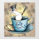 Tea Mouse Canvas Print