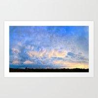 Evening's Last Light Art Print