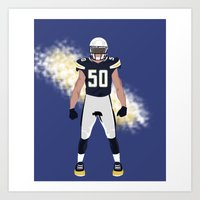 Bolt Up - Manti Te'o Art Print