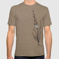 Gladiolus Flower Mens Fitted Tee Tri-Coffee SMALL