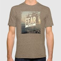 No Fear In Love Mens Fitted Tee Tri-Coffee SMALL