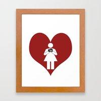 T-Shirt I Love Photography  (Girl) Framed Art Print