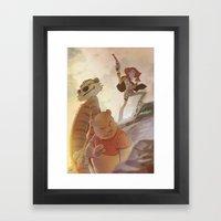 Cowboys, Tigers and Bears Framed Art Print