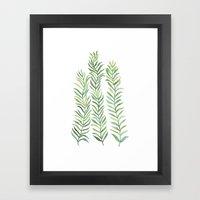 Green Branches Framed Art Print
