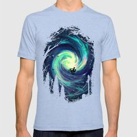 Adventure Awaits Mens Fitted Tee Tri-Blue SMALL