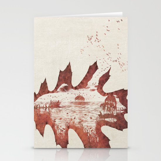 Autumn morning Stationery Card