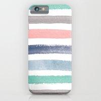 Colored Watercolor Brush Strokes iPhone 6 Slim Case