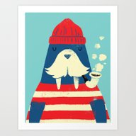 Art Print featuring The Walrus by Monster Riot