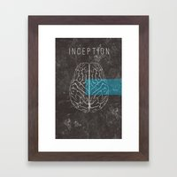 Inception Movie Poster Framed Art Print