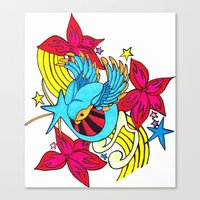 The Musical Swallow Canvas Print