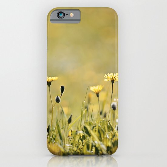 Yellow Wildflowers in the Sun iPhone & iPod Case