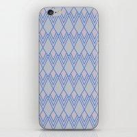 Art Deco Diamond Teardrop - Blue iPhone & iPod Skin