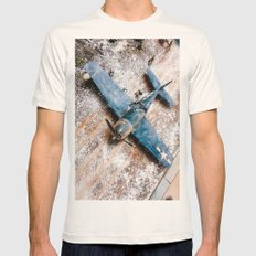 Airplane Mens Fitted Tee Natural SMALL