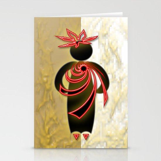 Fashion Lady Stationery Card