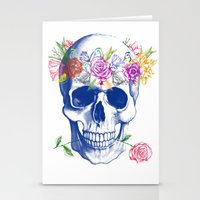 Halloween Skull Stationery Cards