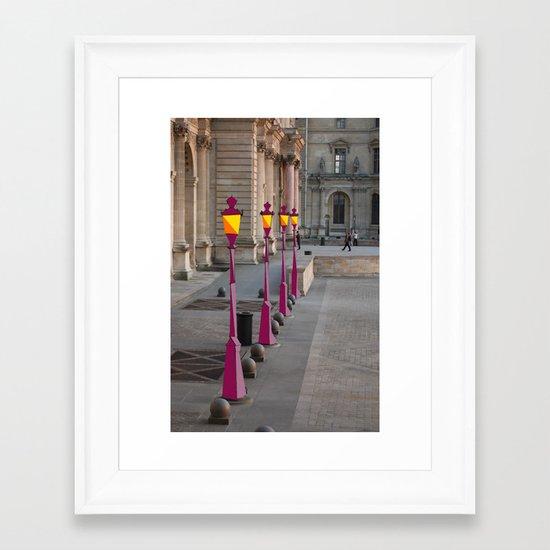 Lightposts Framed Art Print