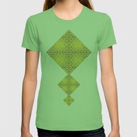 Random Rope On Gold Foil Womens Fitted Tee Grass SMALL