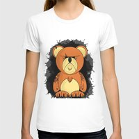 Angrier Ted Womens Fitted Tee White SMALL
