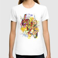 Grazy - Graffiti Womens Fitted Tee White SMALL