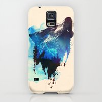 Galaxy S5 Cases featuring Alone as a wolf by Robert Farkas