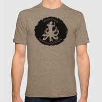 MadSea Nymph, white on black Mens Fitted Tee Tri-Coffee SMALL
