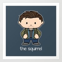 The Squirrel  Art Print