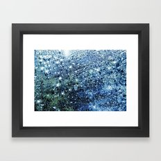 blue rain Framed Art Print