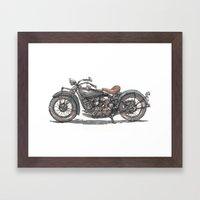 1929 Indian Motorcycle Framed Art Print