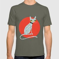 Wild House Cat Mens Fitted Tee Lieutenant SMALL