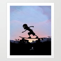 Silver Surfer Kid Art Print