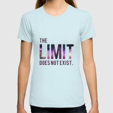 The Limit Does Not Exist - Mean Girls quote from Cady Heron Womens Fitted Tee Light Blue SMALL