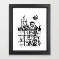Knicks Liberty Framed Art Print